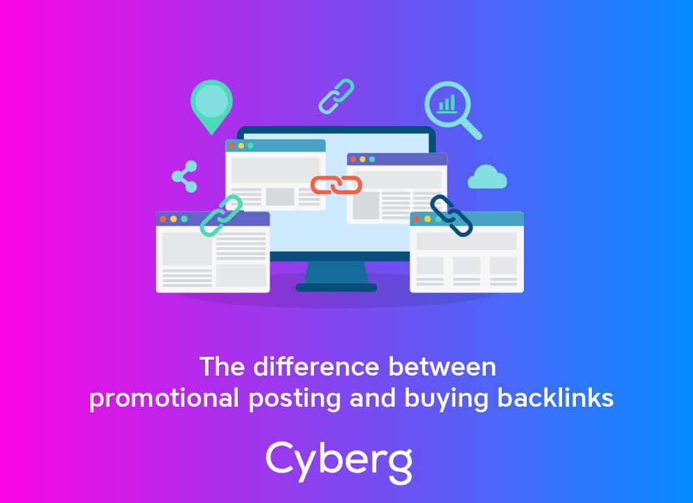 The difference between promotional posting and buying backlinks